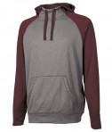 Charles River Apparel 9690 Field Long Sleeve Sweatshirt Maroon Heather Full View