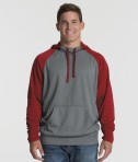 Charles River Apparel 9690 Field Long Sleeve Sweatshirt Red Heather