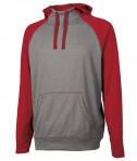 Charles River Apparel 9690 Field Long Sleeve Sweatshirt Red Heather Full View