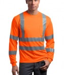 CornerStone - ANSI 107 Class 3 Long Sleeve Snag-Resistant Reflective T-Shirt Style CS409 Safety Orange