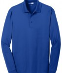 CornerStone Select Snag-Proof Long Sleeve Polo Royal Flat Front