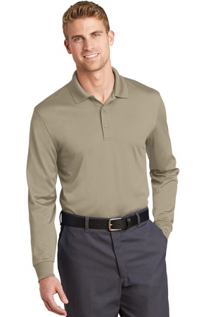CornerStone Select Snag-Proof Long Sleeve Polo Tan Front