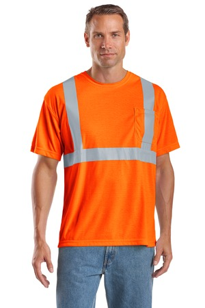 CornerStone - ANSI 107 Class 2 Safety T-Shirt Style CS401 Safety Orange