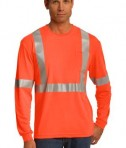 CornerStone - ANSI 107 Class 2 Long Sleeve Safety T-Shirt Style CS401LS Safety Orange