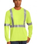 CornerStone - ANSI 107 Class 2 Long Sleeve Safety T-Shirt Style CS401LS Safety Yellow