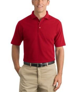 CornerStone – Industrial Pique Polo Style CS402 Red