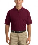 CornerStone - Industrial Pocket Pique Polo Style CS402P Burgundy