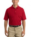 CornerStone - Industrial Pocket Pique Polo Style CS402P Red