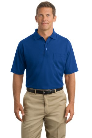 CornerStone – Industrial Pocket Pique Polo Style CS402P Royal