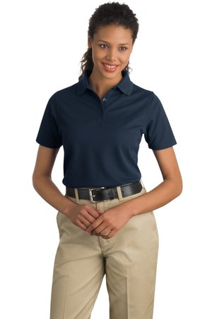 CornerStone - Ladies Industrial Pique Polo Style CS403 Navy