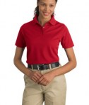 CornerStone - Ladies Industrial Pique Polo Style CS403 Red