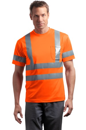 CornerStone - ANSI 107 Class 3 Short Sleeve Snag-Resistant Reflective T-Shirt Style CS408 Safety Orange