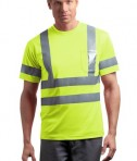 CornerStone - ANSI 107 Class 3 Short Sleeve Snag-Resistant Reflective T-Shirt Style CS408 Safety Yellow