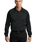CornerStone - Select Long Sleeve Snag-Proof Tactical Polo Style CS410LS Black
