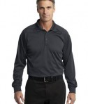 CornerStone - Select Long Sleeve Snag-Proof Tactical Polo Style CS410LS Charcoal