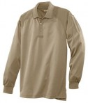 CornerStone - Select Long Sleeve Snag-Proof Tactical Polo Style CS410LS Tan Flat