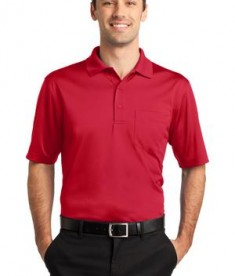 CornerStone - Select Snag-Proof Pocket Polo Style CS412P Red