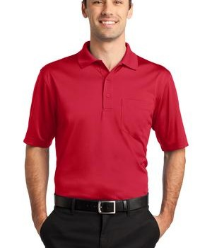 CornerStone – Select Snag-Proof Pocket Polo Style CS412P Red
