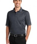CornerStone - Select Snag-Proof Tipped Pocket Polo Style CS415 Charcoal/Light Grey