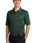 CornerStone - Select Snag-Proof Tipped Pocket Polo Style CS415 Dark Green/Black
