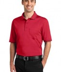 CornerStone - Select Snag-Proof Tipped Pocket Polo Style CS415 Red/Black