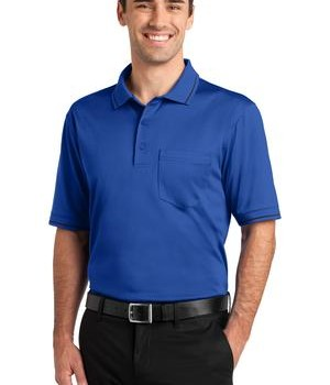 CornerStone – Select Snag-Proof Tipped Pocket Polo Style CS415 Royal/Black