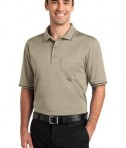 CornerStone - Select Snag-Proof Tipped Pocket Polo Style CS415 Tan/Black