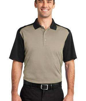 CornerStone – Select Snag-Proof Blocked Polo Style CS417 Tan/Black