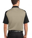 CornerStone - Select Snag-Proof Blocked Polo Style CS417 Tan/Black Back