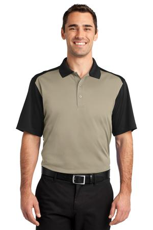 CornerStone - Select Snag-Proof Blocked Polo Style CS417 Tan/Black