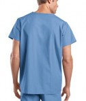 CornerStone - Reversible V-Neck Scrub Top Style CS501 Ceil Blue Back