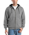 CornerStone - Heavyweight Full-Zip Hooded Sweatshirt with Thermal Lining Style CS620 Athletic Heather