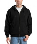CornerStone - Heavyweight Full-Zip Hooded Sweatshirt with Thermal Lining Style CS620 Black