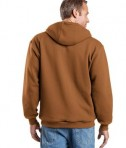 CornerStone - Heavyweight Full-Zip Hooded Sweatshirt with Thermal Lining Style CS620 Brown Back