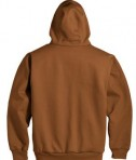 CornerStone - Heavyweight Full-Zip Hooded Sweatshirt with Thermal Lining Style CS620 Brown Back Flat