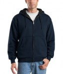 CornerStone - Heavyweight Full-Zip Hooded Sweatshirt with Thermal Lining Style CS620 Navy