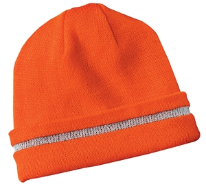 CornerStone - Enhanced Visibility Beanie with Reflective Stripe Style CS800