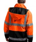 CornerStone - ANSI 107 Class 3 Waterproof Parka Style CSJ24 Safety Orange Back
