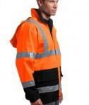CornerStone - ANSI 107 Class 3 Waterproof Parka Style CSJ24 Safety Orange Side