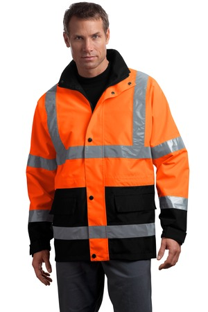 CornerStone - ANSI 107 Class 3 Waterproof Parka Style CSJ24 Safety Orange