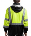 CornerStone - ANSI 107 Class 3 Safety Windbreaker Style CSJ25 Safety Yellow Back