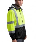CornerStone - ANSI 107 Class 3 Safety Windbreaker Style CSJ25 Safety Yellow Side