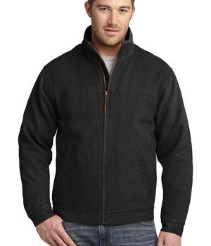 CornerStone – Washed Duck Cloth Flannel-Lined Work Jacket Style CSJ40 Black
