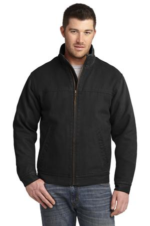 CornerStone - Washed Duck Cloth Flannel-Lined Work Jacket Style CSJ40 Black