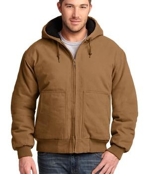 CornerStone – Washed Duck Cloth Insulated Hooded Work Jacket Style CSJ41 Duck Brown