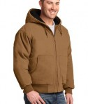 CornerStone - Washed Duck Cloth Insulated Hooded Work Jacket Style CSJ41 Duck Brown Angle