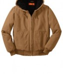 CornerStone - Washed Duck Cloth Insulated Hooded Work Jacket Style CSJ41 Duck Brown Flat