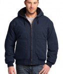 CornerStone - Washed Duck Cloth Insulated Hooded Work Jacket Style CSJ41 Navy