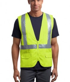 CornerStone - ANSI 107 Class 2 Mesh Back Safety Vest Style CSV405 Safety Yellow