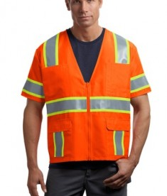 CornerStone - ANSI 107 Class 3 Dual-Color Safety Vest Style CSV406 Orange Yellow